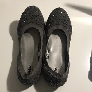 Mossimo gray sparkle flats size 9